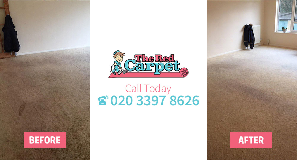 Carpet Cleaning before-after Aldersbrook E12