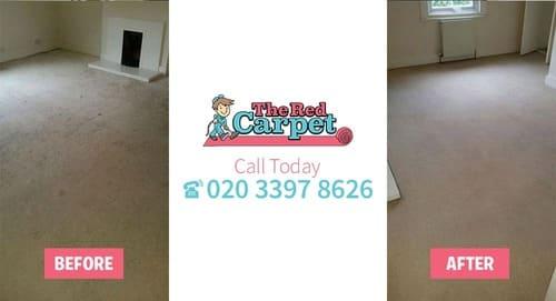 Carpet Cleaning before-after Old Malden KT3