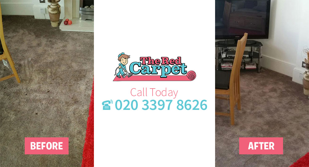 Carpet Cleaning before-after North Sheen TW9