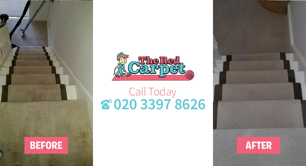 Carpet Cleaning before-after Leatherhead KT24