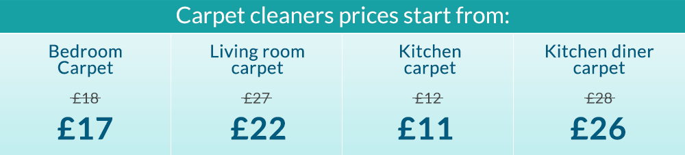 Prices for Carpet Cleaning Service in London