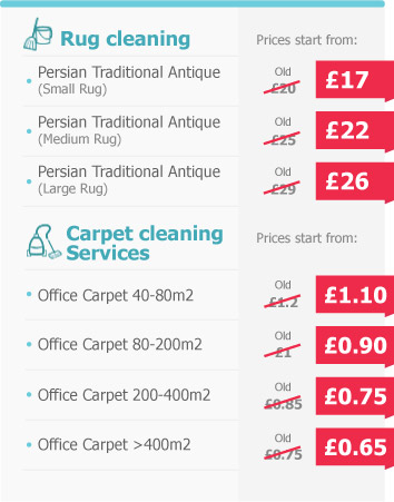 Professional Cleaners Price List